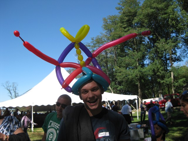 One of Charlie's awesome balloon hats.